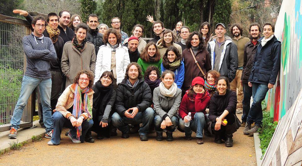 "foto inicial de grupo en entrenamiento del ""curso certificado en diseño en permacultura"" - photo initial du groupe de formation du ""cours certifié de projet en permaculture"""